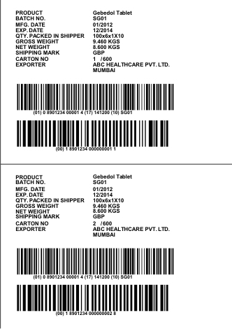 Logistics and Shipping Labels