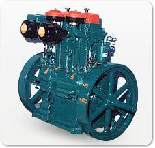 Lister Type Double Cylinder Diesel Engine