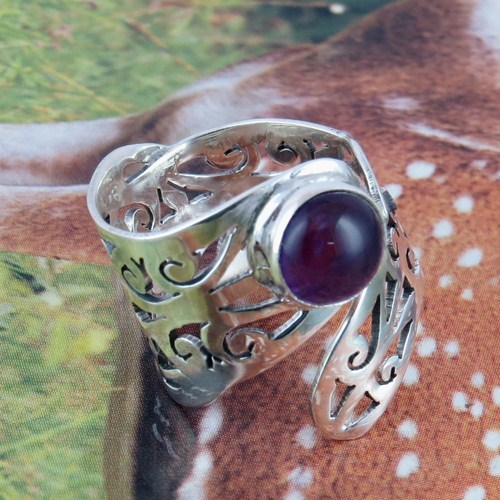 Energy Flowing In Your Home Amethyst 925 Sterling Silver