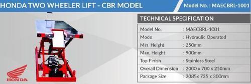 Honda Two Wheeler Lift For Cbr Model