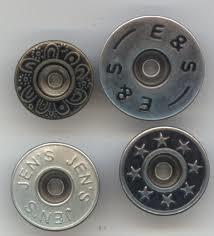 Metal Jeans Button in  Inderlok