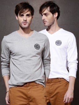 Roadster Solid Mens Round Neck T Shirt