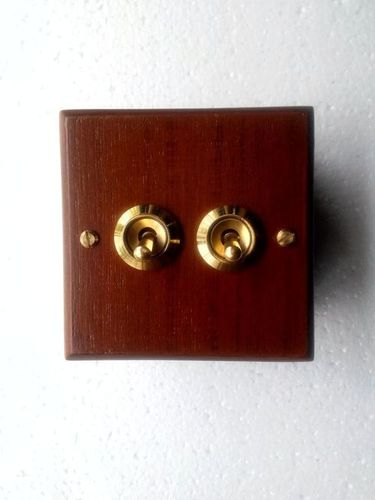 Flush Type Antique Wooden Panel Switches