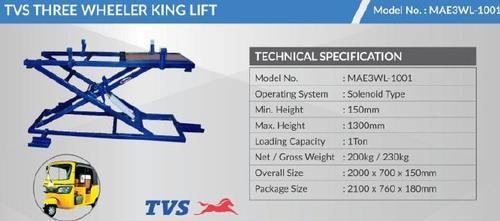 Tvs Three Wheeler King Lift