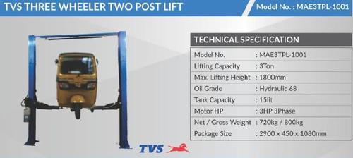 Tvs Three Wheeler Two Post Lift
