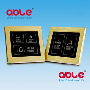 Able Hotel Metal Frame Touch Doorbell Switch