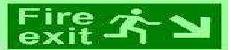 Customized Photo-Luminescent Fire Exit Signage