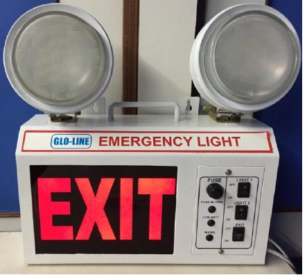 Industrial LED Emergency Light With Exit