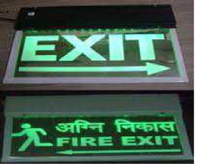 LED Laser Etched Fire Exit Signage