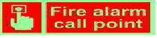 Photo-luminescent Fire Alarm Call Point Signage