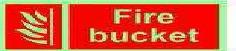 Photo-Luminescent Fire Bucket Signage