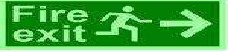 Photo-Luminescent Fire Exit Signages