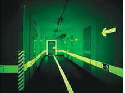 Photo-Luminescent Way Guiding System