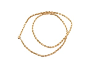Yellow Gold Plated Golden Copper Rope Chain for Women [225] Chain