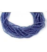 Natural Tanzanite Gemstone Micro Faceted Rondelle Beads Bead