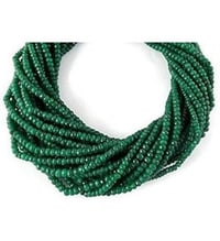 Strand Corundum Emerald Gemstone Faceted Rondelle Beads