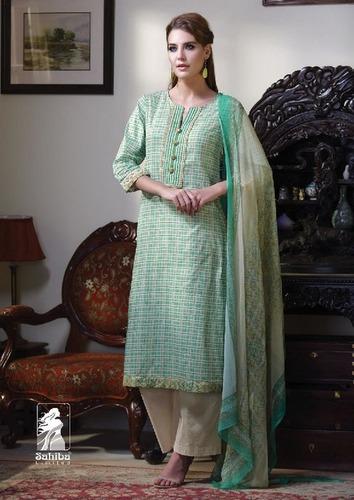 Sahiba Mannat Cotton Digital Print With Embroidery Ladies Suit