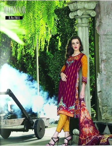 Mahnoor Ladies Pure Cotton Embroidery Suit