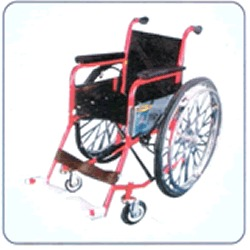 Deluxe Invalid Folding Wheel Chair