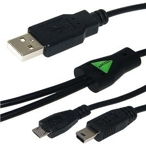 Micro USB Y Splitter Charging Handy Cable