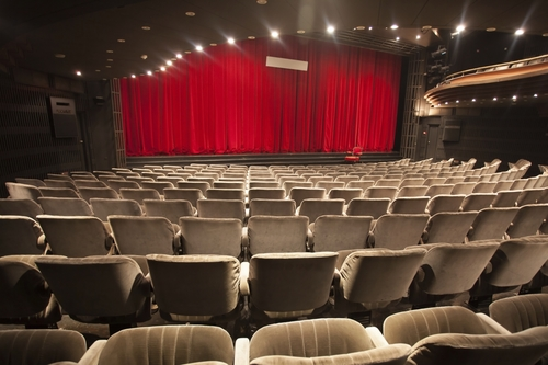 Durable Auditorium Motorized Stage Curtains