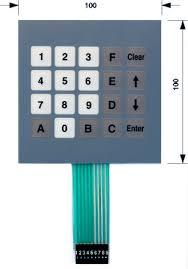Reliable Flexible Membrane Keypad
