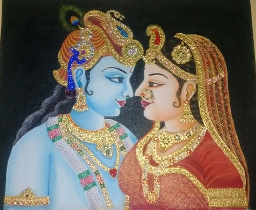 Radha Krishna Gold Paintings