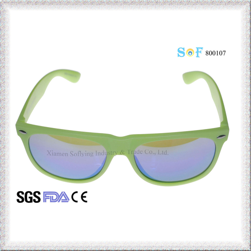 Top Quality Cheap Fashion Customized OEM Eyewear with Flat Color Mirror Lenses