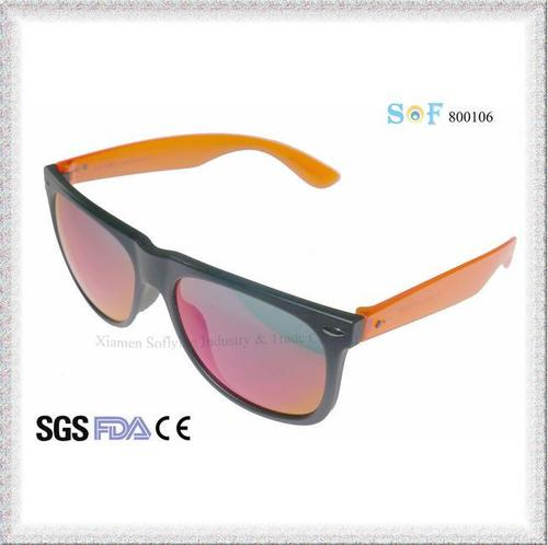 Top Seller OEM Unisex Plastic Polarized Fashion Sunglasses with Revo Lenses
