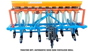 Fully Automatic Tractor Operated Seed Cum Fertilizer Drill