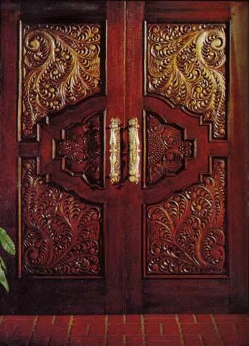 Teak Wood Hand Carved Double Door At Best Price In Delhi