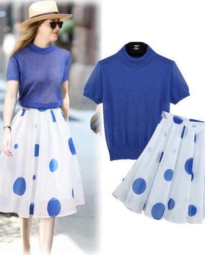 Doted Skirt and Top