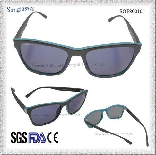 Polarized Mirrored Square Sun Glasses With Custom Logo