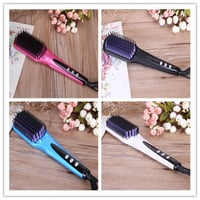 LED Display and CE and ETL Certification Hair Straightener Brush