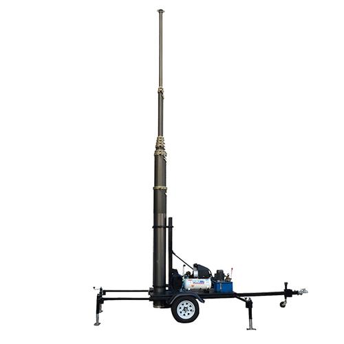 GSM BTS Mast Tower Trailer-15m Pneumatic Telescopic Masts