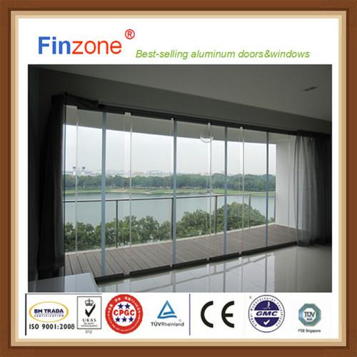 New Design Balcony Window Glass Curtain