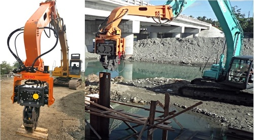 Vibro Hammer Pile Driver Sheet Piling in   Jungwon-gu