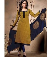 Cotton Jacquard Printed Top With Cotton Bottom And Naznin Dupatta With Heavy Work