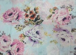 Soft Cotton Voile Floral Print Yardage Thaan Fabric