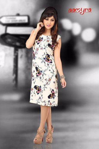 c9a099727652 Partywear Knee Length One Piece Dress - FASHION ADDA