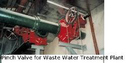 Pinch Valve For Waste Water Treatment Plant