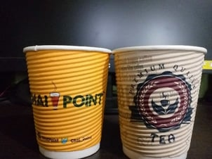 Disposable Insulated Ripple Hot Coffee Paper Cup