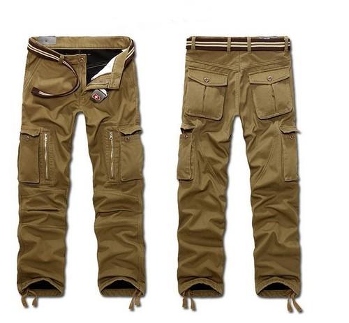 Mens Stylish Cotton Cargo Trousers