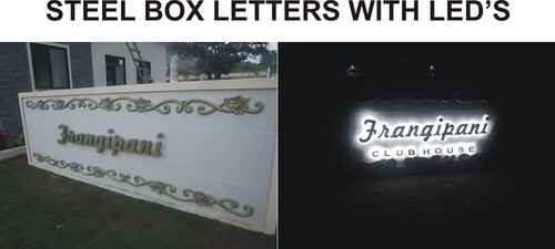 Steel Box Letter with LED in  Fort