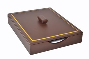 Leather Office Paper Tray