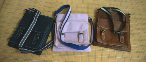 Pink Nubuck Leather Sling Bags