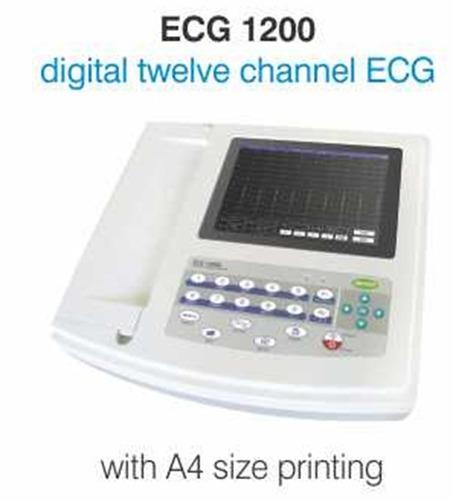 Digital 12 Channel ECG Machine