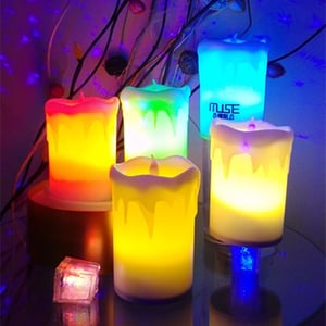 Big Rechargeable Flameless LED Candle Light