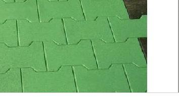 Double T Safety Rubber Tiles