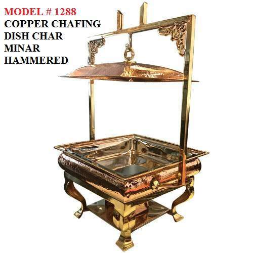 Copper Chafing Dish (Char Minar Hammered)